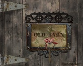 Banner etsy shop premade Old Barn six piece store design Rustic