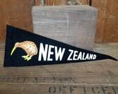 Vintage New Zealand Felt Pennant, Small