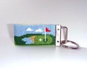 Needlepoint Kit, Golfing Key Fob