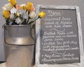 Wooden Chalkboard  Sign Distressed Rustic Country Chic // Menu Dessert Table Sign// 7 x 10