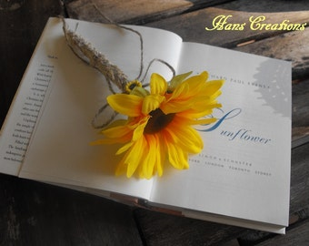 Stylish Burlap Sunflower Wedding Pen for your Guestbook Rustic Woodland Farmhouse Country Ceremony