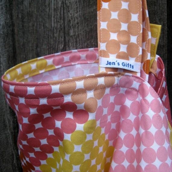 Nursing Cover Up- Pink and Yellow PolkaDots