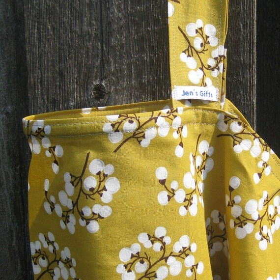 Nursing Cover Up- Mustard Japanese Cherry Blossoms