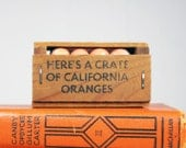 Vintage Miniature Wooden California Oranges Fruit Crate
