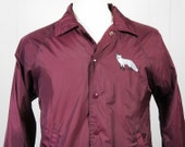 Vintage Lightweight Maroon Jacket w/ Embroidered Fox - Size S