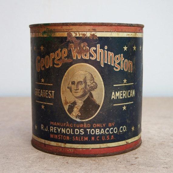 Vintage George Washington Cut Plug Tobacco Tin