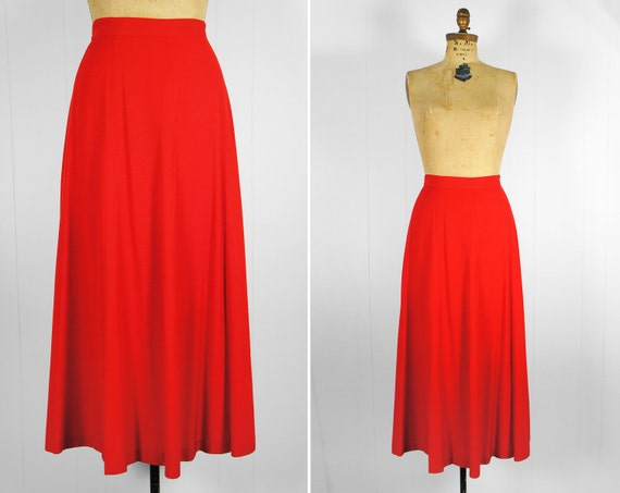 Vintage 1980's Cherry Red Skirt - Size M