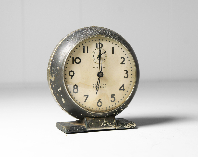 Vintage Black Westclox Big Ben Alarm Clock