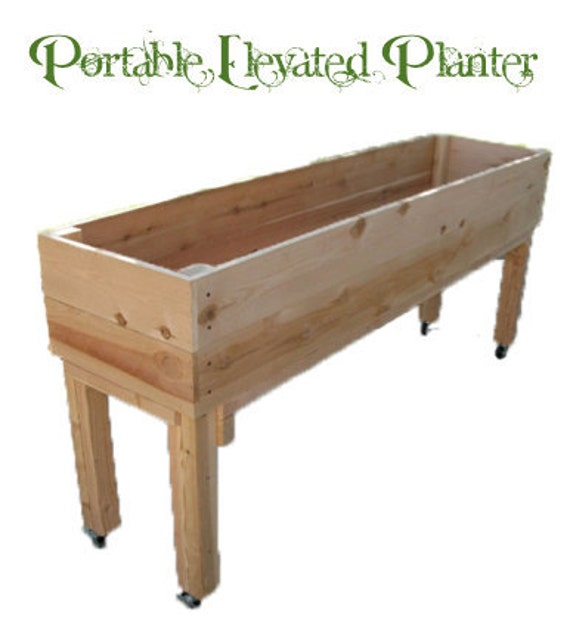 Portable Elevated Planter Box by Living Green Planters