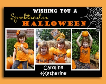 Happy Halloween Photo Card Printable