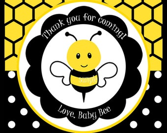 Bumble Bee Favor Tags Printable or Printed with FREE SHIPPING-ANY Wording- Sweet Bee Collection