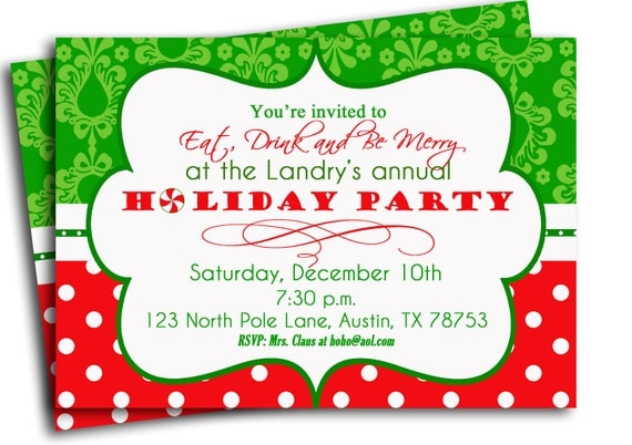 christmas party invitation printable traditional holiday, christmas party invites, christmas party invites diy, christmas party invites email