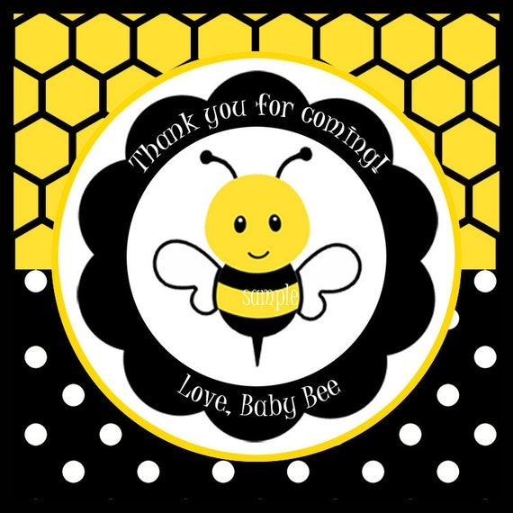 Bumble Bee Favor Tags Printable or Printed with FREE ...