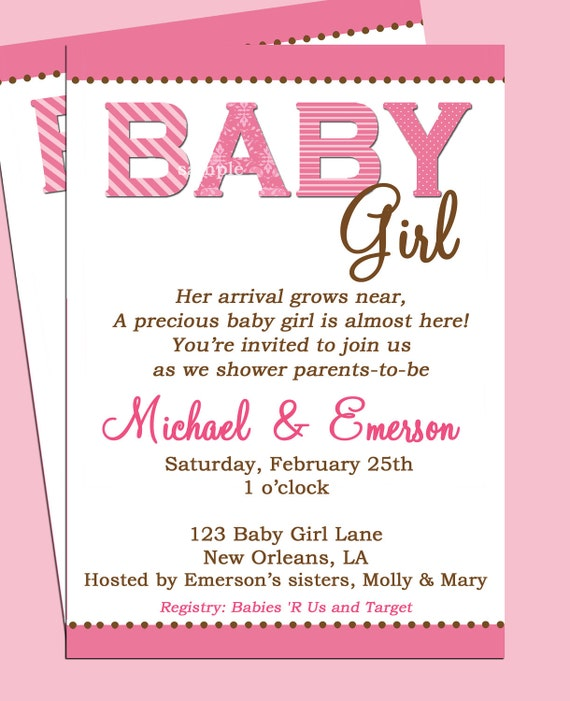 Baby Shower Invitations Wording For Boys: Baby Shower Invitation Printable Or Printed With FREE SHIPPING