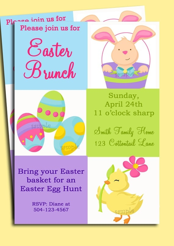 Easter invitation printable or printed with free shipping stopboris Gallery