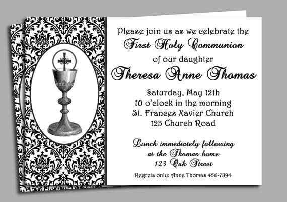 Epic image intended for first communion invitations free printable