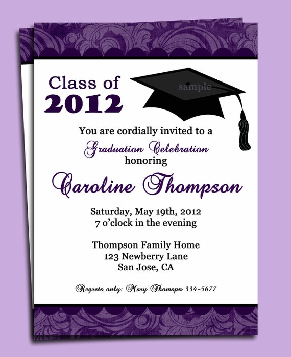 Graduation Ceremony Invitations is luxury invitation example