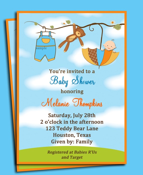 Breathtaking image in printable baby shower invitations boy