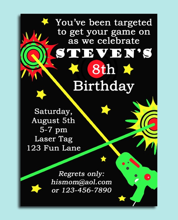 Massif image with laser tag birthday invitations free printable