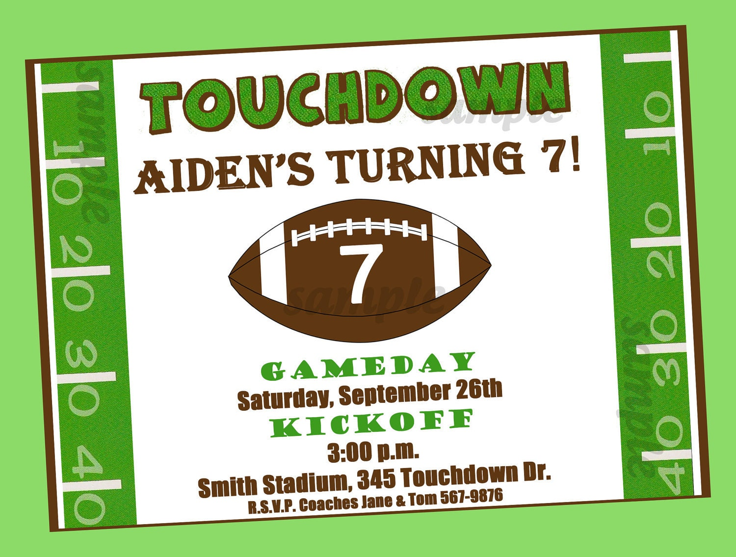 Sly image pertaining to free printable football invitations