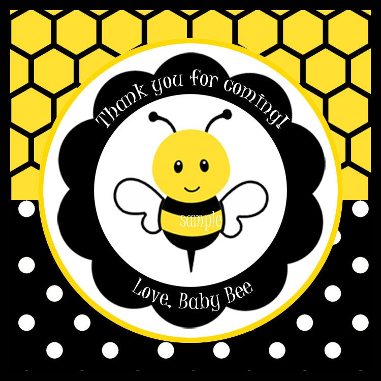 Bumble Bee Favor Tags Printable or Printed with FREE