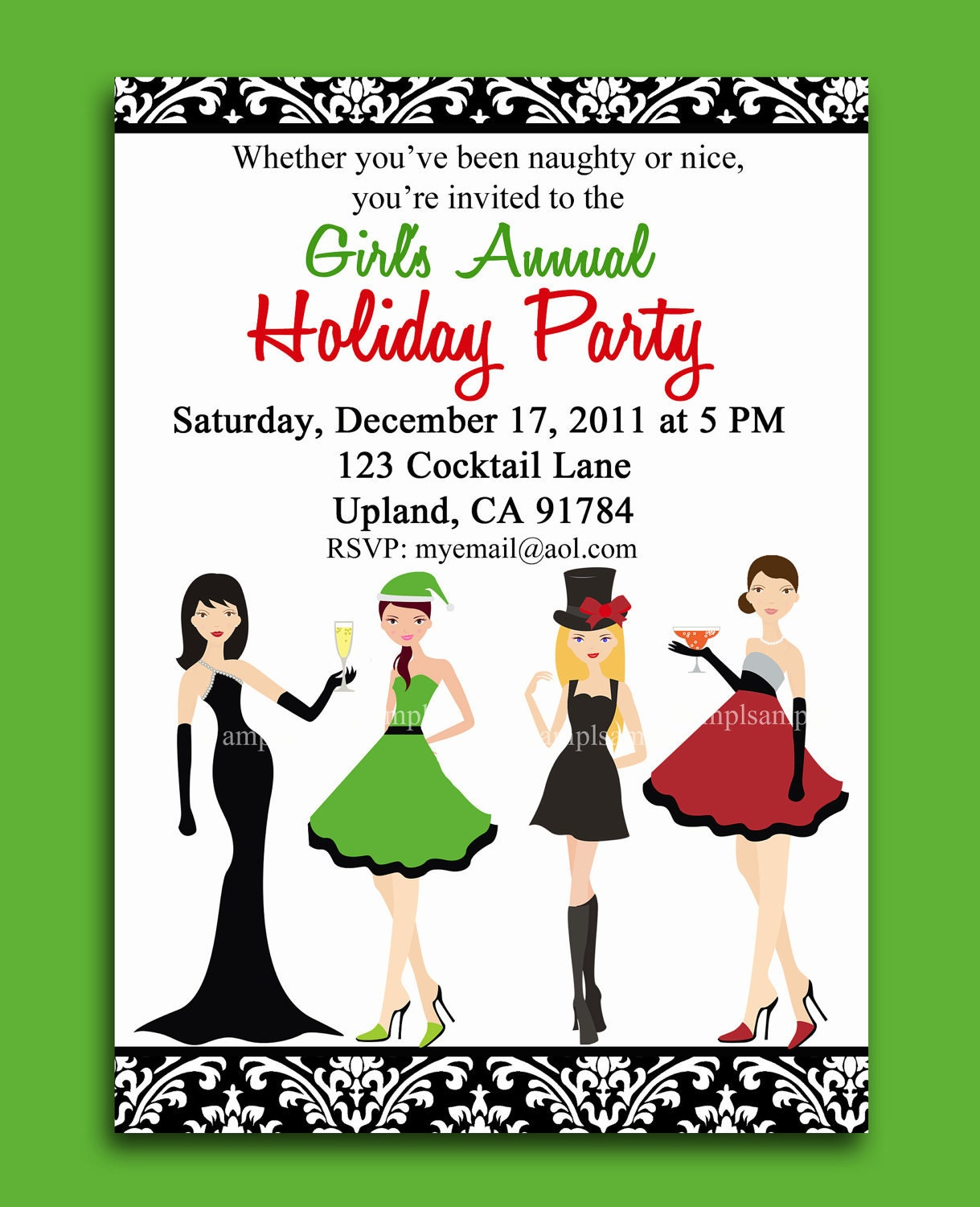 christmas cocktail party invites