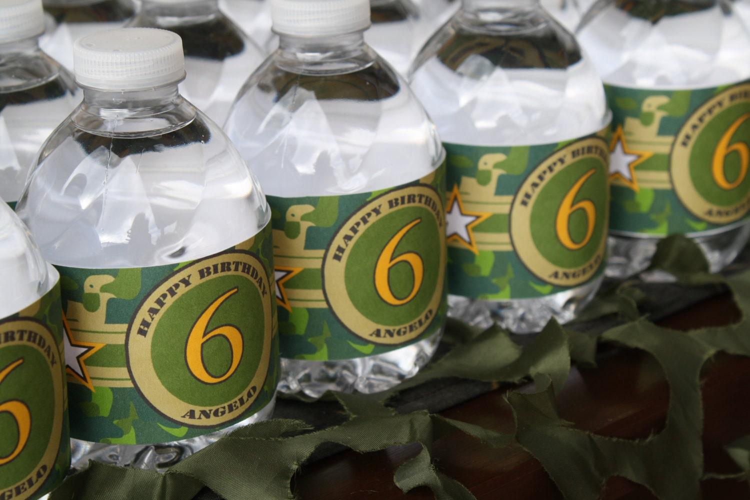 Camouflage Water Bottle Labels Printable Camo by ...
