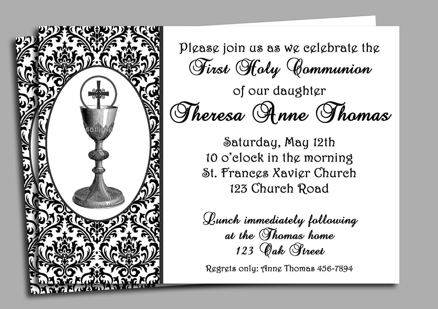 Impertinent image within printable first communion invitations