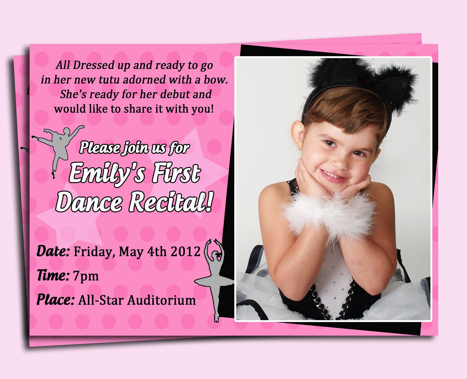 Ballet Invitation Printable Or Printed With Free Shipping