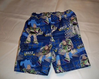 Disney Buzz Lightyear child shorts w/pull on elastic waist