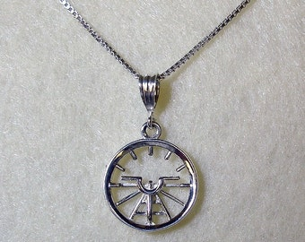 Aviation Attitude Indicator Small Sterling Silver Necklace Jewelry