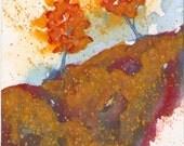 Blue Bark - Original Watercolor - 4x6 inches