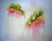 Pines of Terre Verte - Original Watercolor - 18inx24in