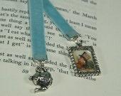 Mad Hatter Tea Pot Tea Party  Alice in Wonderland Velvet Book Mark - Weighted Reading Companion -SP