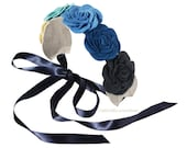 Flower Headband made of wool felt Fashion