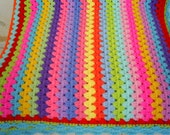the multicolor granny stripe blanket
