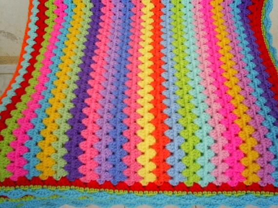 the multicolor granny stripe blanket