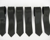 6 Trendy skinny black tie (8 each)