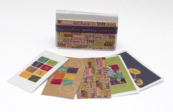 1 set of 6 assorted 4x2 greeting cards