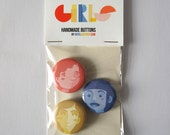 Girls buttons