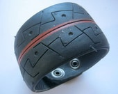 Upcycled tyre Bracelet-Cuff