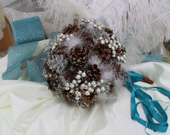 Pinecone Bouquet - Winter Wedding Bouquet