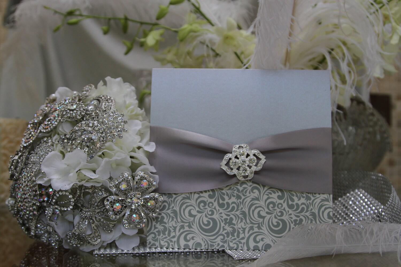 zoom - Elegant Wedding Invitations With Crystals