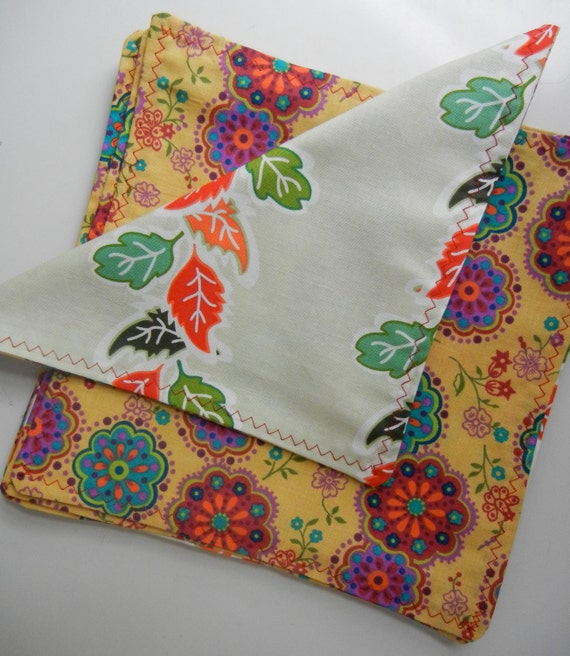 Cloth Napkins double sided and reversible SET of 4