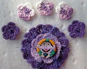 15% Off Summer Sale - Crocheted Flowers - The Count - Scrapbooking - Embellishments - Applique