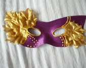 Purple and Gold  Masquerade Mask- Proceeds go to charity