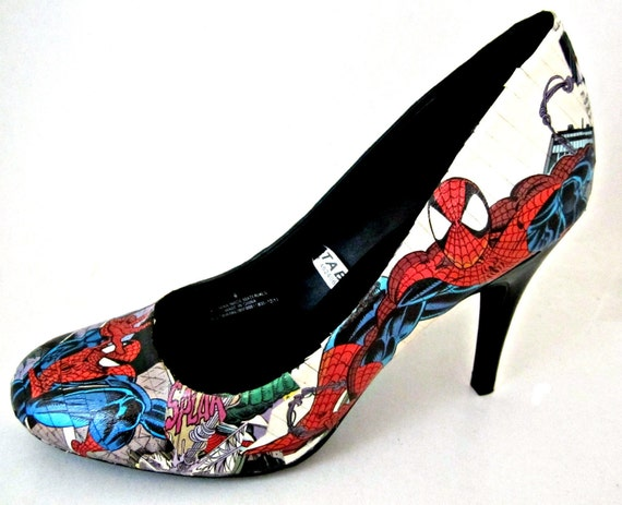 Custom Order Comic Book Shoes-- You pick the character