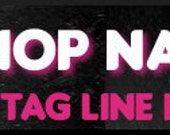 Ready Made Black Hot Pink Punk  Banner and Avatar Set