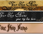 Premade Goth Steampunk Vintage Banner and Avatar - You Pick One - missdesignit
