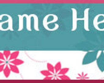 Ready Made Retro Vintage Flower Banners - You Pick One